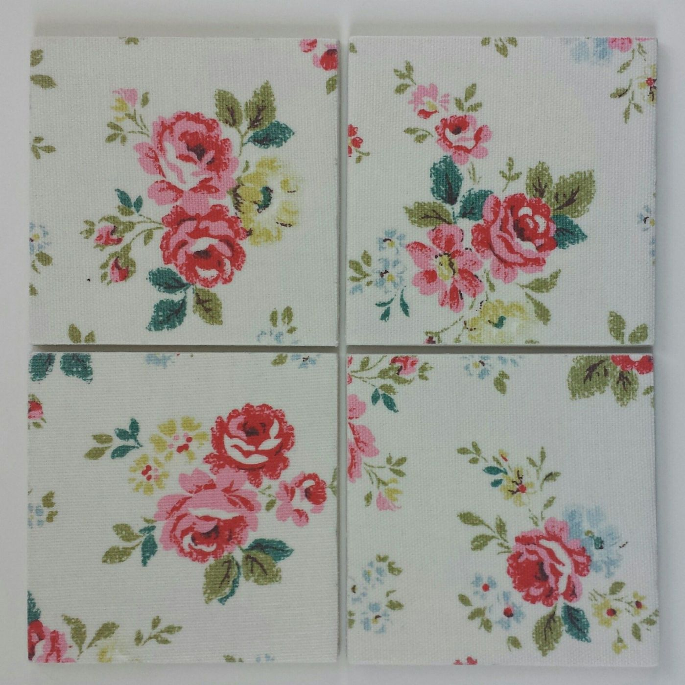 kitchen bathroom wall tiles made with cath kidston field roses - Kitchen Bathroom Tiles